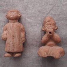 Antigüedades: 4 CURIOSAS FIGURITAS DE TERRACOTA. Lote 93043190