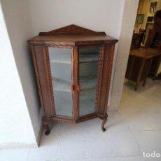 Antigüedades: ANTIGUA VITRINA MODERNISTA,MADERA NOBLES.. Lote 93058460