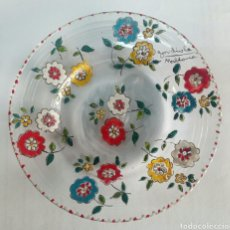 Antigüedades: PLATO DE CRISTAL FIRMADO GORDIOLA MALLORCA. Lote 93071513