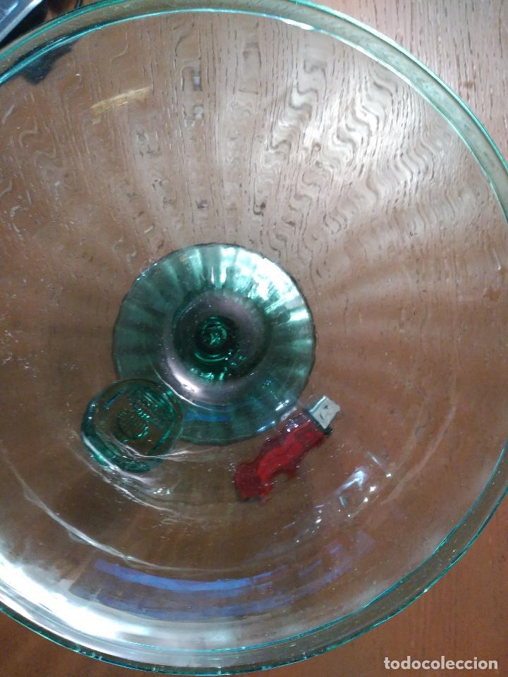 Antigüedades: ANTIGUO CENTRO MESA O BOMBONERA CRISTAL ESCUDO REALIZADO POR GORDIOLA EN EL XIX MALLORCA 233,00 € - Foto 9 - 93084440