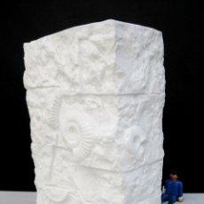 Antigüedades: JARRON PORCELANA FINA BISCUIT ALEMANIA KAISER LA LLADRO ALEMANA 125 ANIVERSARIO FOSILES TRILOBITES. Lote 93085375