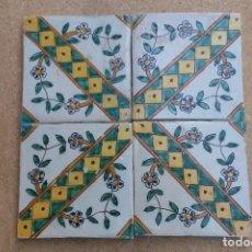 Antigüedades: C349.- CUADRO DE AZULEJOS CATALANES DEL S. XVIII DE LA SERIE DE L'ESCALETA. Lote 93091435