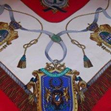 Antigüedades: PAÑUELO SEDA NATURAL, ETIQUETADO, MEDIDAS 87 X 87. Lote 93091595