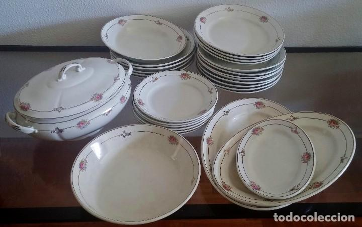 Usado, Vajilla de porcelana San Claudio - 6 servicios - completa - (1905 - 1925) - Ref. 767 segunda mano