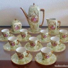 Antigüedades: JUEGO DE CAFÉ DE PORCELANA - 9 SERVICIOS - POST ART DÉCO - REF. 774. Lote 93112415