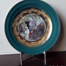 Antigüedades: PLATO PORCELANA LIMOGES FIRMADO CHAMBON. Lote 93117065