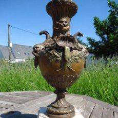 Antigüedades: IMPRESIONANTE JARRON SIGLO XIX BRONCE Y MARMOL ALTURA 40 CM PESO 4,450 KG. PERFECTO ESTADO 395,00. Lote 93124330