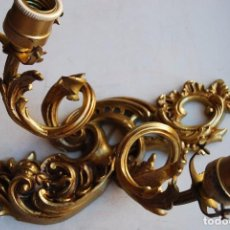 Antigüedades: APLIQUES TIPO FRANCÉS CON TULIPAS DE CRISTAL. Lote 93142615