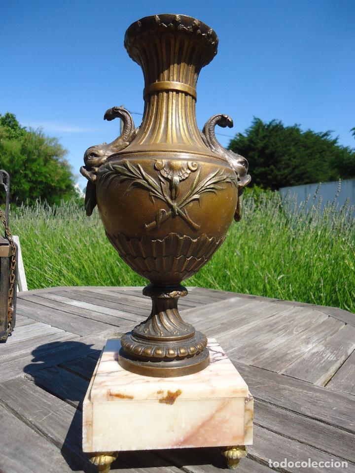 Antigüedades: IMPRESIONANTE JARRON SIGLO XIX BRONCE Y MARMOL ALTURA 40 cm PESO 4,450 KG. PERFECTO ESTADO 395,00 - Foto 4 - 93124330