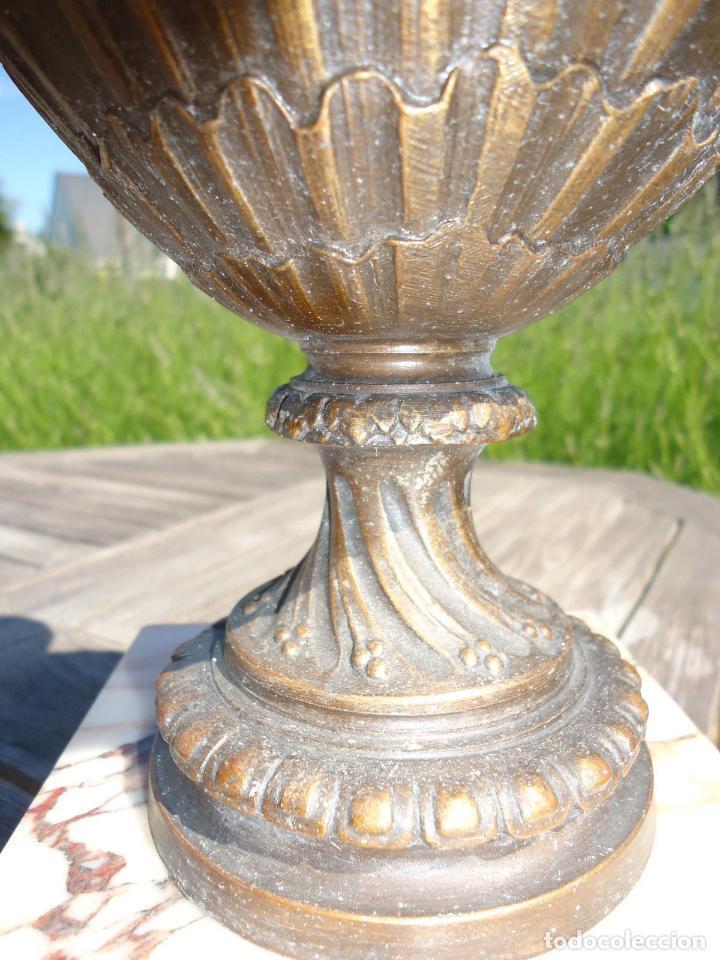 Antigüedades: IMPRESIONANTE JARRON SIGLO XIX BRONCE Y MARMOL ALTURA 40 cm PESO 4,450 KG. PERFECTO ESTADO 395,00 - Foto 6 - 93124330