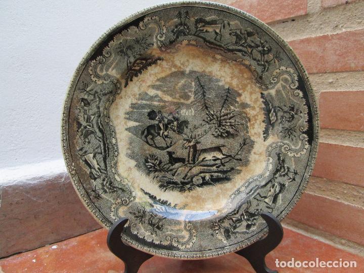 PLATO ANTIGUO DE LA FABRICA DE CARTAGENA, FABRICA DE LOZA LA AMISTAD. SIGLO XIX, 22 CM. (Antigüedades - Porcelanas y Cerámicas - Cartagena)