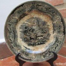 Antigüedades: PLATO ANTIGUO DE LA FABRICA DE CARTAGENA, FABRICA DE LOZA LA AMISTAD. SIGLO XIX, 22 CM.. Lote 93171305
