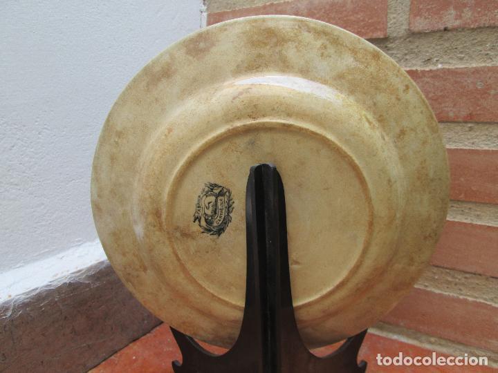Antigüedades: Plato antiguo de la Fabrica de Cartagena, Fabrica de loza La Amistad. Siglo XIX, 22 Cm. - Foto 2 - 93171305