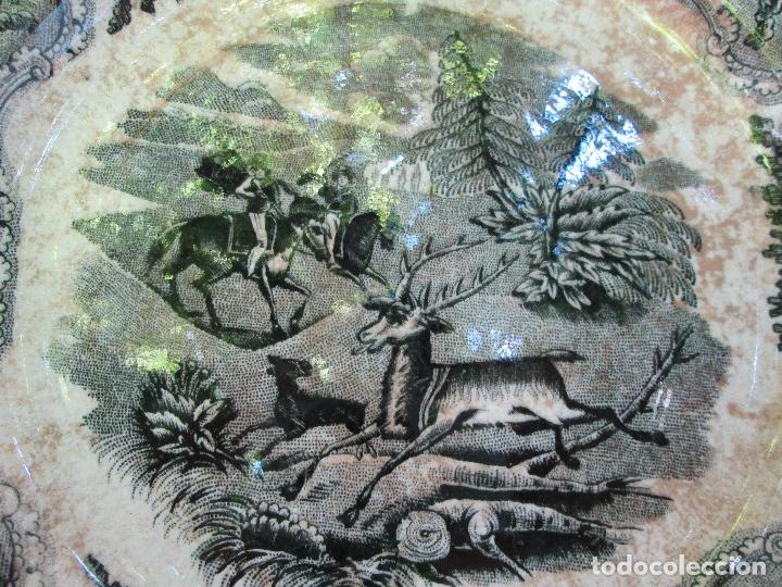 Antigüedades: Plato antiguo de la Fabrica de Cartagena, Fabrica de loza La Amistad. Siglo XIX, 22 Cm. - Foto 7 - 93171305