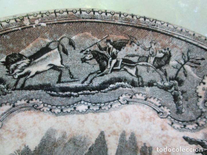 Antigüedades: Plato antiguo de la Fabrica de Cartagena, Fabrica de loza La Amistad. Siglo XIX, 22 Cm. - Foto 8 - 93171305