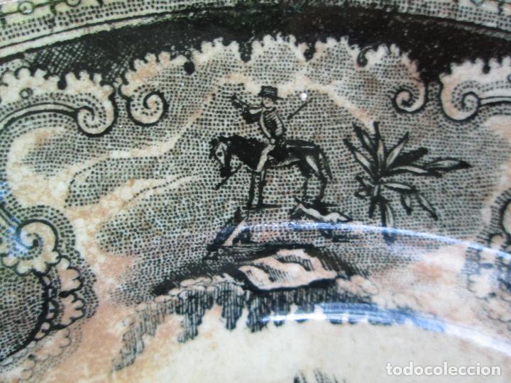Antigüedades: Plato antiguo de la Fabrica de Cartagena, Fabrica de loza La Amistad. Siglo XIX, 22 Cm. - Foto 9 - 93171305