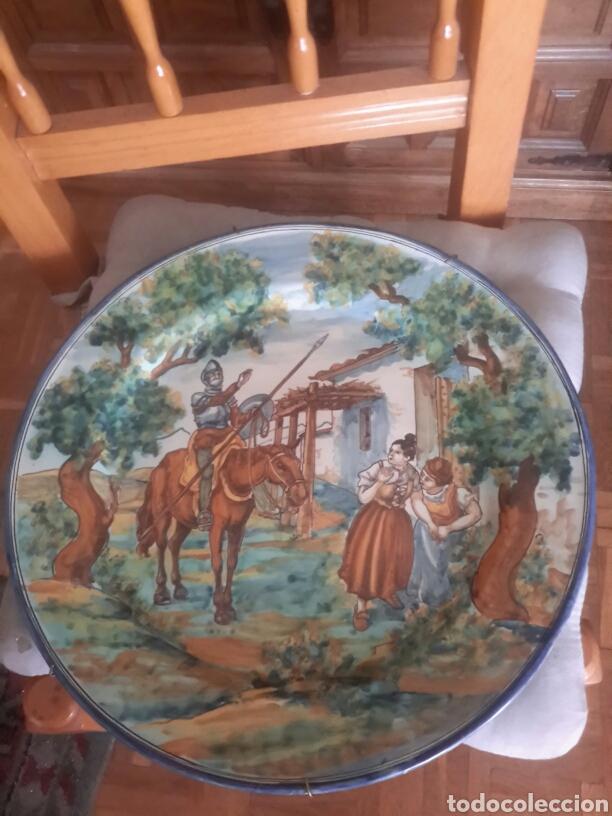 CERAMICA ANTIGUA DE TALAVERA FIRMADO POR RUIZ DE LUNA (Antigüedades - Porcelanas y Cerámicas - Talavera)