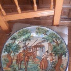 Antigüedades: CERAMICA ANTIGUA DE TALAVERA FIRMADO POR RUIZ DE LUNA . Lote 93177592