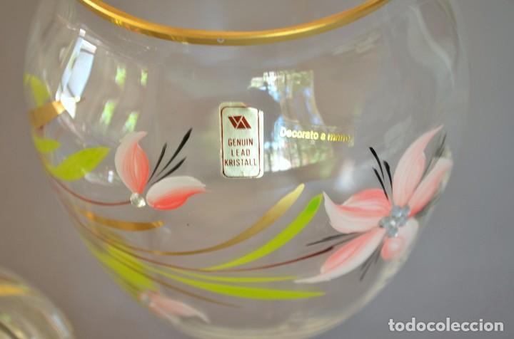 Antigüedades: Bombonera de cristal decorado y firmado - Foto 4 - 93202655