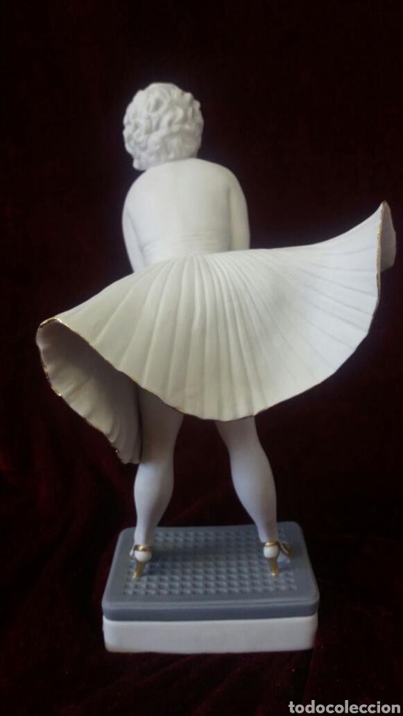 Antigüedades: Figura porcelana Algora Marilyn Monroe - Foto 2 - 107375723