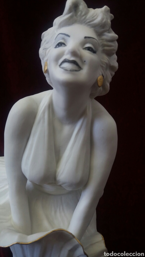 Antigüedades: Figura porcelana Algora Marilyn Monroe - Foto 3 - 107375723