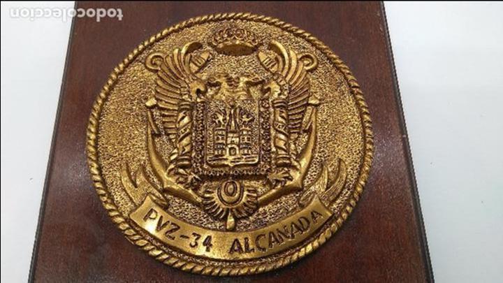 Antigüedades: Antigua metopa militar de gran calidad de bronce y madera PVZ-34 ALCANADA. - Foto 2 - 93240000