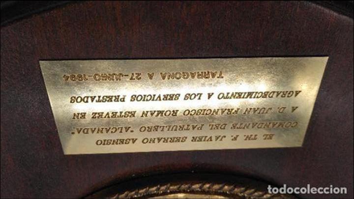 Antigüedades: Antigua metopa militar de gran calidad de bronce y madera PVZ-34 ALCANADA. - Foto 3 - 93240000