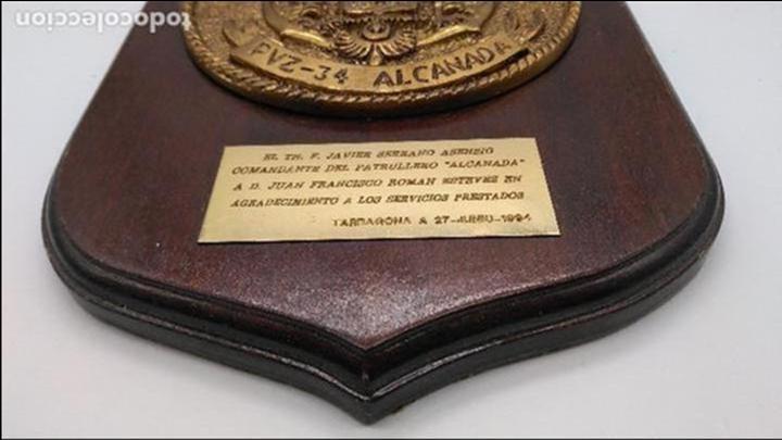 Antigüedades: Antigua metopa militar de gran calidad de bronce y madera PVZ-34 ALCANADA. - Foto 4 - 93240000