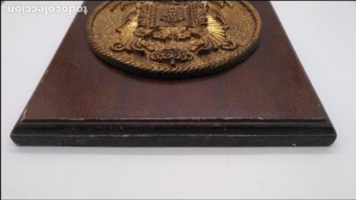 Antigüedades: Antigua metopa militar de gran calidad de bronce y madera PVZ-34 ALCANADA. - Foto 5 - 93240000