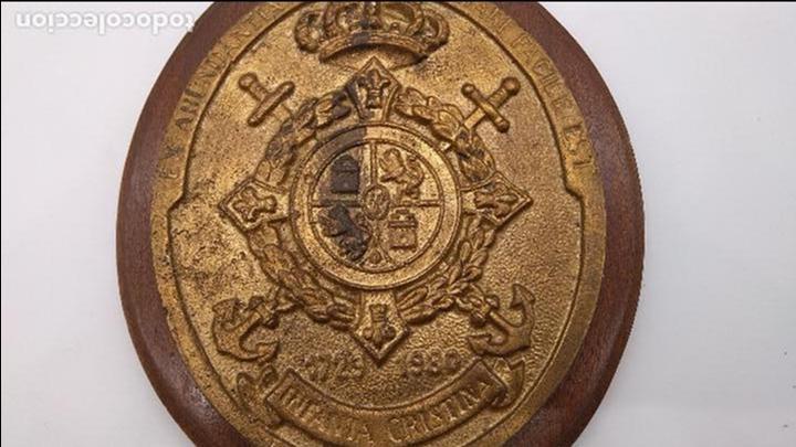 Antigüedades: Antigua metopa militar de gran calidad de bronce y madera INFANTA CRISTINA. - Foto 6 - 93240195