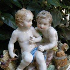 Antigüedades: ANTIGUA FIGURA CENTRO PORCELANA HISPANIA PRINCIPIOS SIGLO XX. Lote 93248425