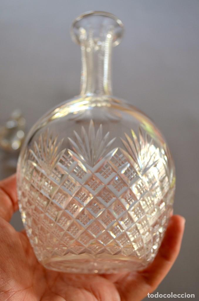Antigüedades: Licorera de cristal tallado a mano, original - Foto 2 - 93261410