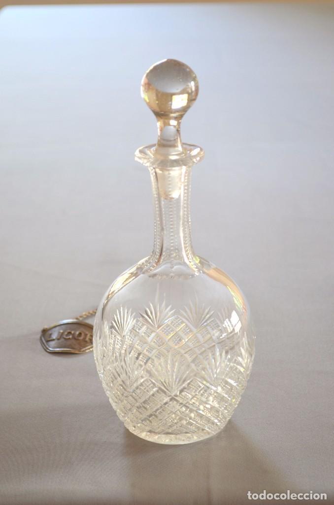 Antigüedades: Licorera de cristal tallado a mano, original - Foto 3 - 93261410