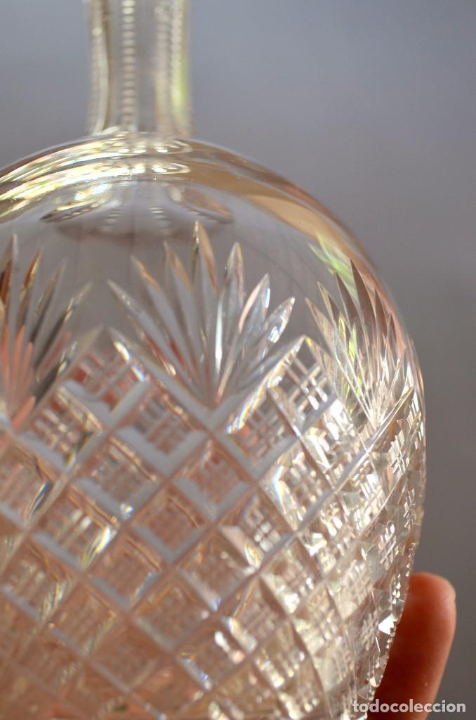 Antigüedades: Licorera de cristal tallado a mano, original - Foto 4 - 93261410