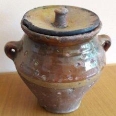 Antigüedades: MIELERA ,ORZA CERÁMICA ARAGONESA. Lote 93264410