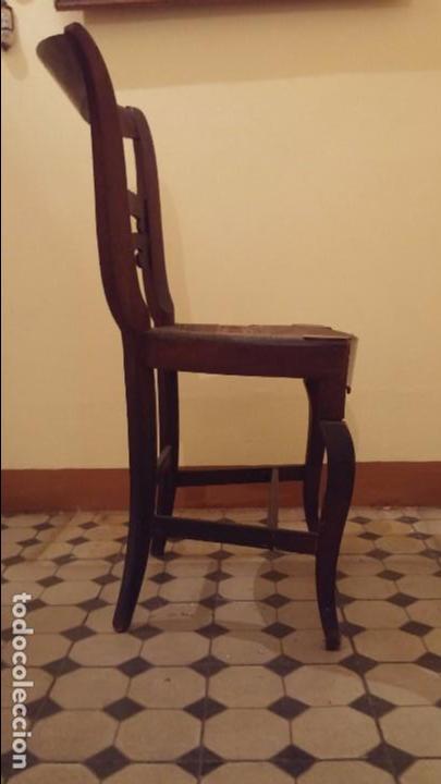 Antigüedades: Silla fernandina madera caoba - Foto 2 - 93266610