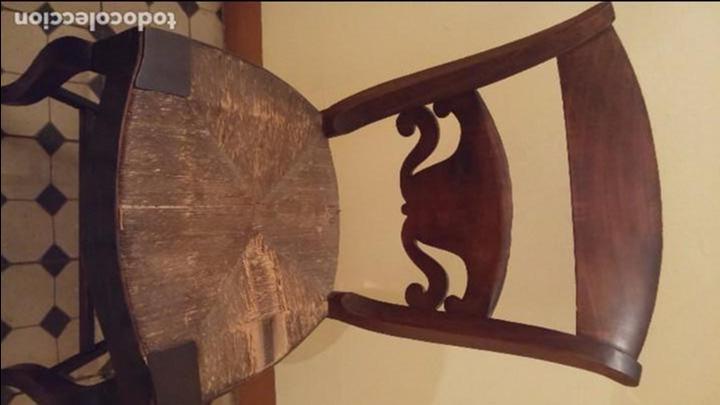 Antigüedades: Silla fernandina madera caoba - Foto 4 - 93266610