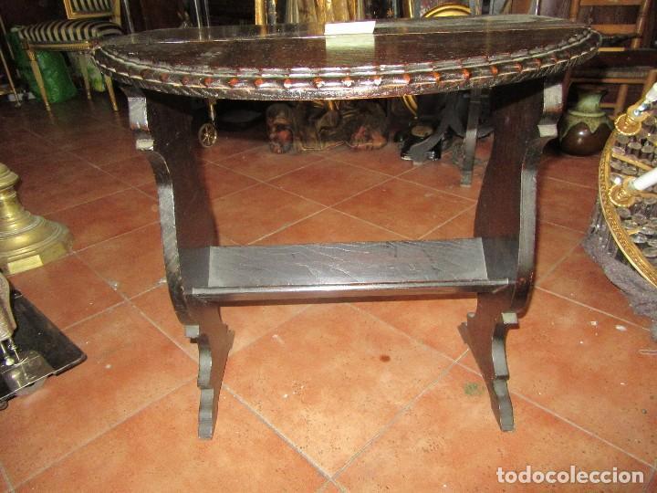 MESA RÚSTICA OVALADA (Antigüedades - Muebles Antiguos - Mesas Antiguas)