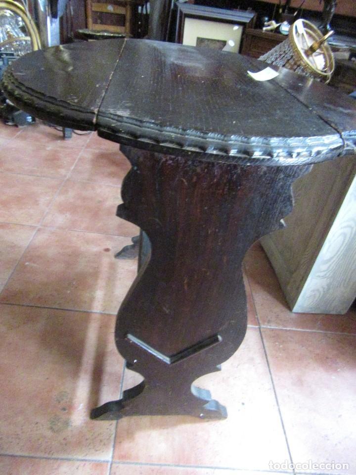 Antigüedades: MESA RÚSTICA OVALADA - Foto 3 - 93268950