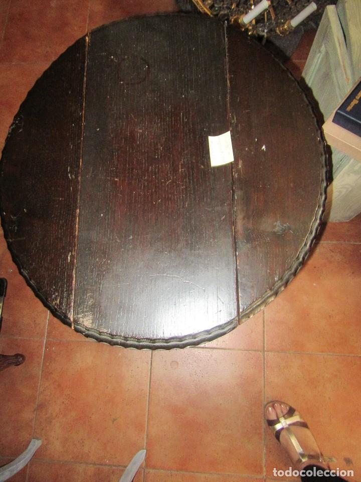 Antigüedades: MESA RÚSTICA OVALADA - Foto 4 - 93268950