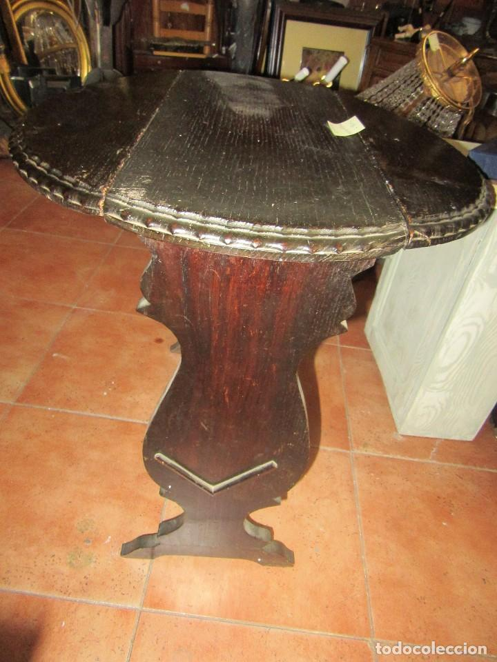 Antigüedades: MESA RÚSTICA OVALADA - Foto 5 - 93268950