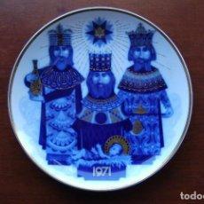 Antigüedades: PLATO PORCELANA NAVIDAD AÑO 1971-SANTA CLARA-FIRMA EMPRESARIO MOISÉS ALVAREZ. Lote 93270385