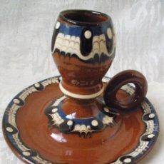 Antigüedades: PORTAVELAS DE CERAMICA-. Lote 93270950
