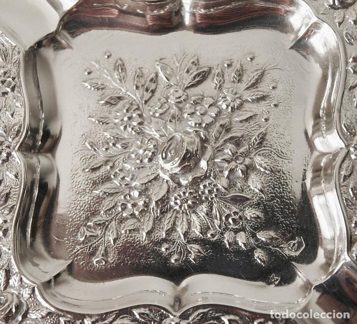 Antigüedades: CENICERO DE PLATA DE LEY CONTRASTADA. 15,5 GRAMOS. 7 X 7 CM. VER FOTOS Y DESCRIPCION - Foto 5 - 93304535