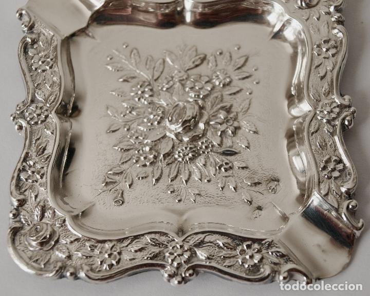 Antigüedades: CENICERO DE PLATA DE LEY CONTRASTADA. 15,5 GRAMOS. 7 X 7 CM. VER FOTOS Y DESCRIPCION - Foto 8 - 93304535
