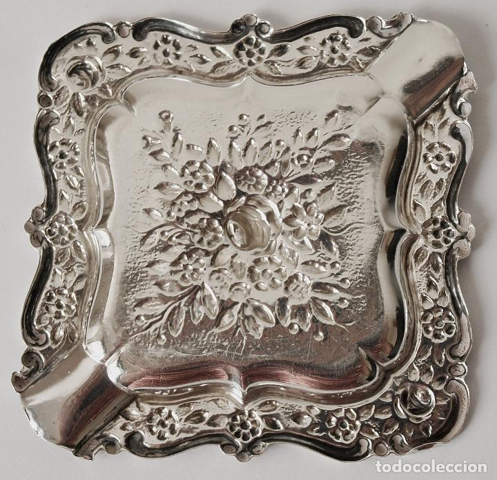 Antigüedades: CENICERO DE PLATA DE LEY CONTRASTADA. 15,5 GRAMOS. 7 X 7 CM. VER FOTOS Y DESCRIPCION - Foto 13 - 93304535