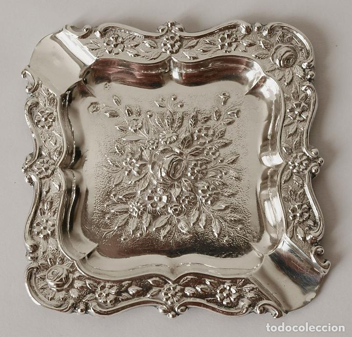 Antigüedades: CENICERO DE PLATA DE LEY CONTRASTADA. 15,5 GRAMOS. 7 X 7 CM. VER FOTOS Y DESCRIPCION - Foto 14 - 93304535