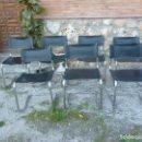 Antigüedades: JUEGO DE SIETE SILLAS CROMADAS. Lote 93338720