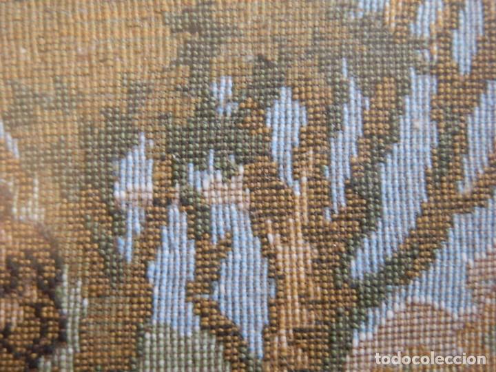 Antigüedades: TRES FINOS TAPICES FRANCESES,MECANICOS, S.XX ROMANTICISMO.MARCO MADERA DORADA 75MM.CON MARIALUISA - Foto 6 - 93354565