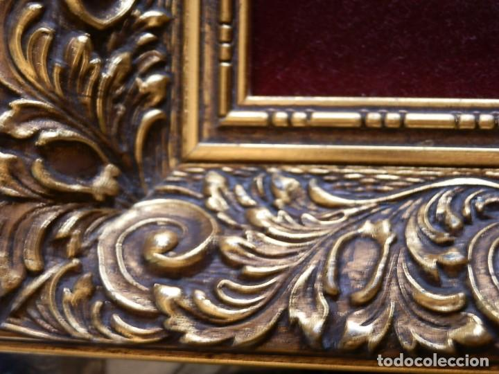 Antigüedades: TRES FINOS TAPICES FRANCESES,MECANICOS, S.XX ROMANTICISMO.MARCO MADERA DORADA 75MM.CON MARIALUISA - Foto 12 - 93354565